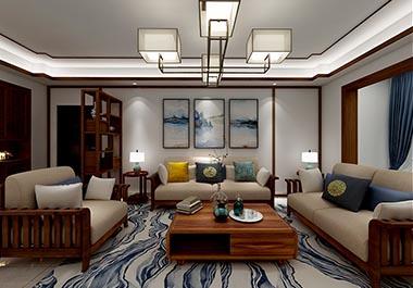 衡阳西子莲花137㎡四房二厅新中式装修效果图