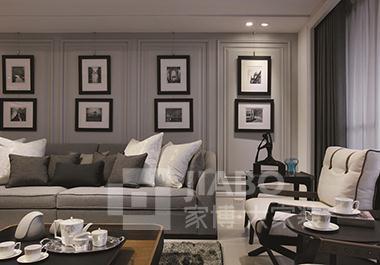 衡阳愉景南苑二期10栋117平方三房两厅美式装修效果图