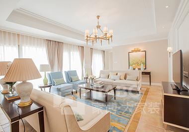 衡阳银泰红城四期C2栋131平方三房两厅美式装修效果图