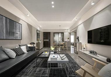 衡阳星美新外滩109㎡ 三室两厅现代风格装修效果图