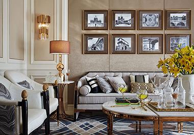 衡阳碧桂园180㎡ 四室两厅美式风格装修效果图