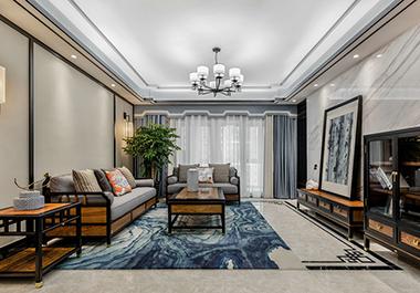 衡阳云沙诗意132㎡ 三室两厅中式风格装修效果图